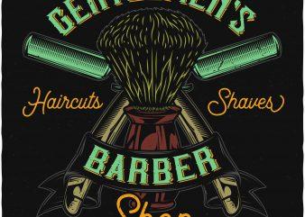 Haircuts and shaves. Vector T-Shirt Design