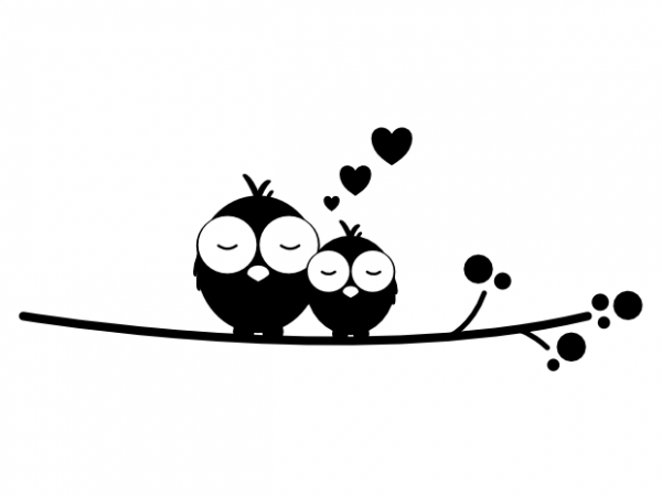 Download Cuddling birds couple real love valentines day vector t ...