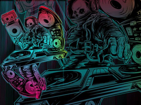 SPACE DJ t-shirt design png