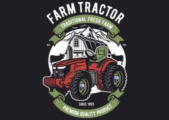 Farm Tractor vector t-shirt design for commercial use