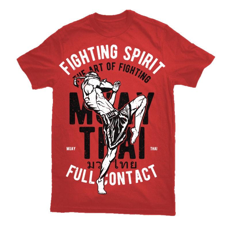 Fighting Spirit Vector t-shirt design t shirt designs for sale