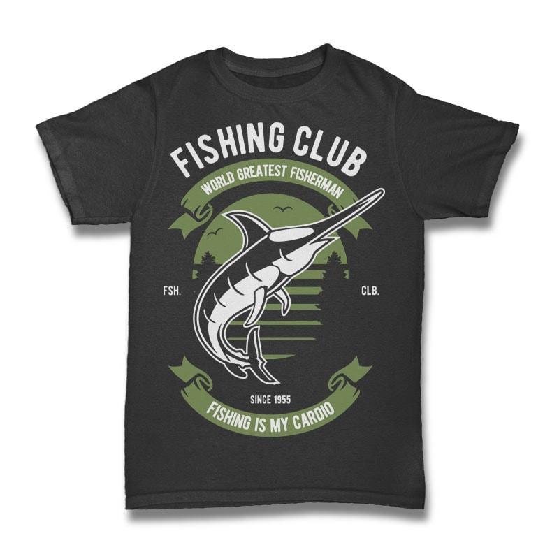 Fishing Club commercial use t shirt designs