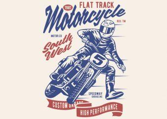 Flat Tracker graphic t-shirt design