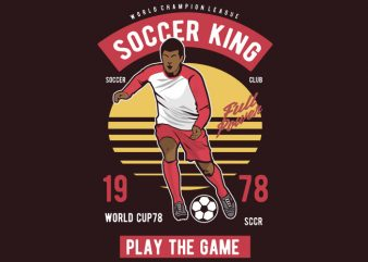 Soccer King t shirt template vector