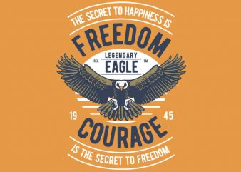 Freedom Eagle print ready vector t shirt design