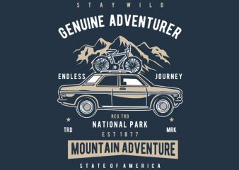 Genuine Adventurer graphic t-shirt design