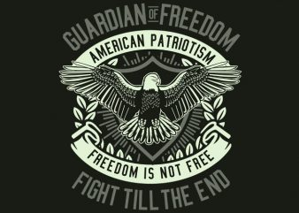Guardian Of Freedom t shirt design template