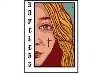 Hopeless graphic t shirt