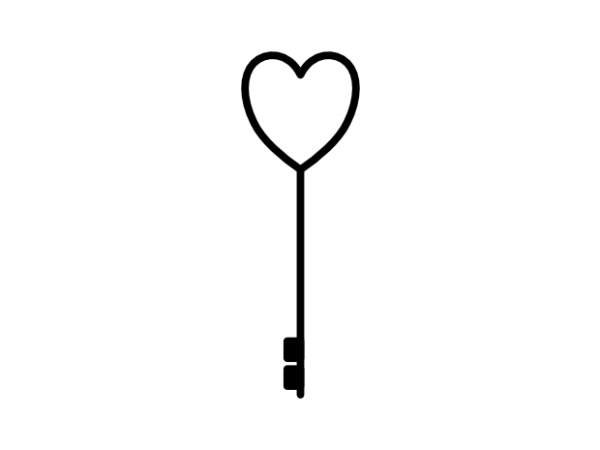Key To The Heart Minimal Love Tattoo Vector T Shirt Design Buy T Shirt Designs