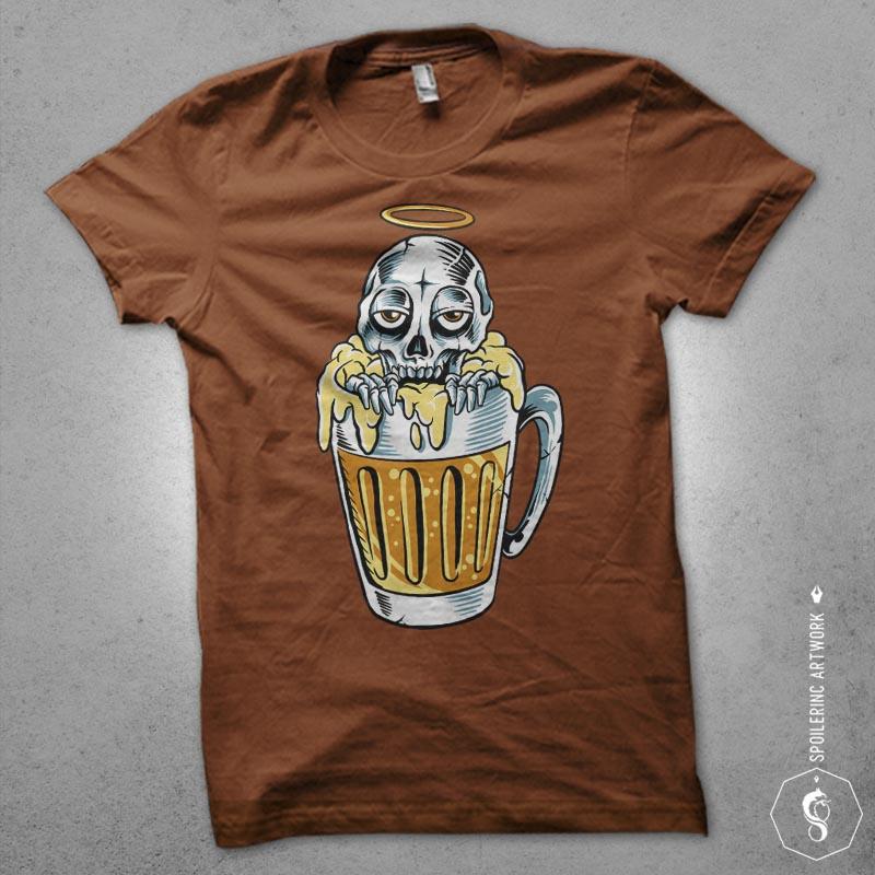 happy dead Graphic t-shirt design tshirt design for merch by amazon