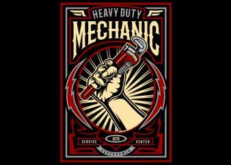 Mechanic vector shirt design