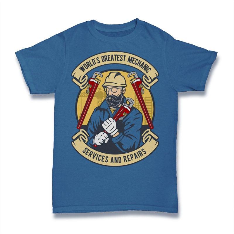 Mechanic man buy tshirt design