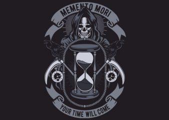 Memento Mori t shirt designs for sale