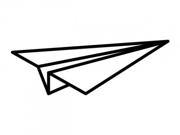 Minimal Paper Airplane Tattoo Vector T Shirt Design Buy T Shirt