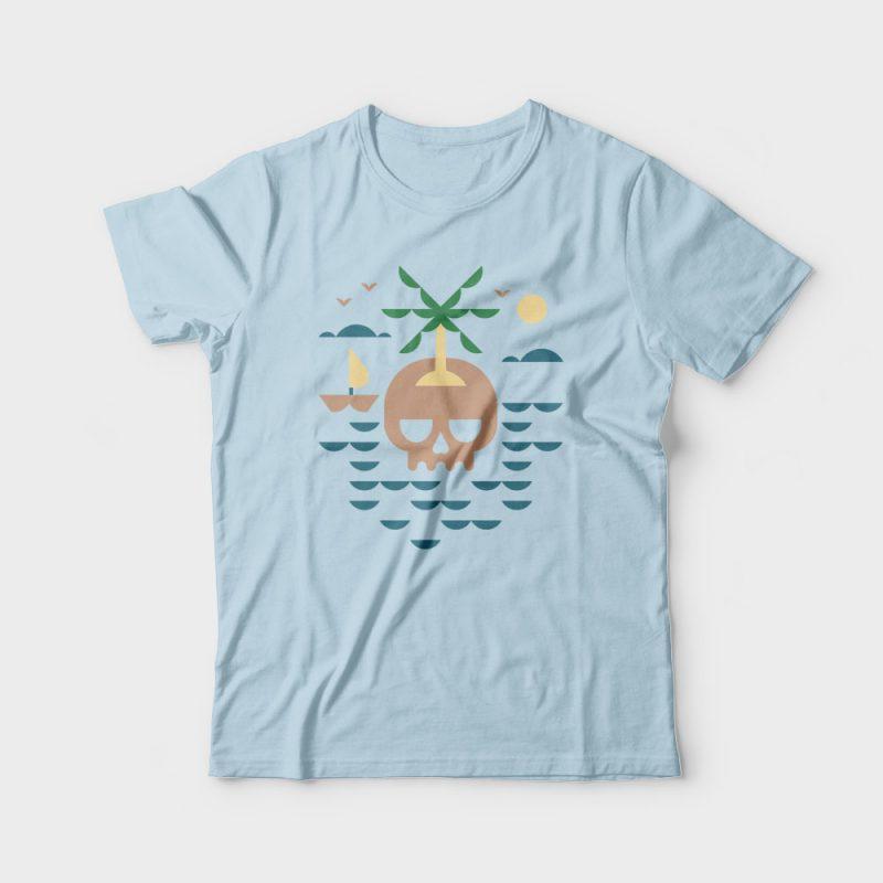 Skull Island vector shirt designs