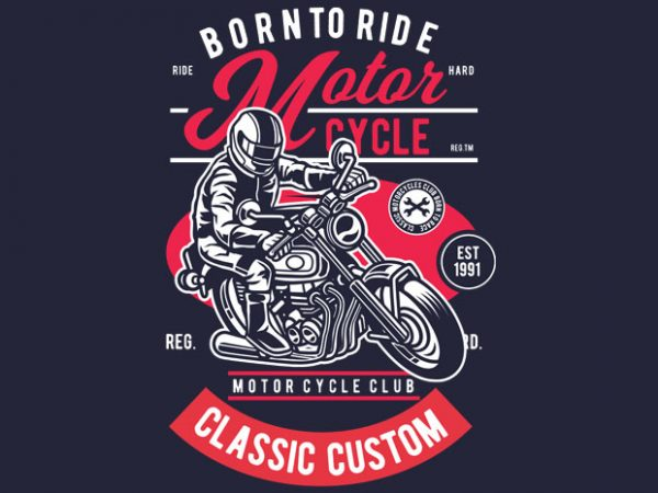 Motorcycle Rider vector t-shirt design template