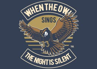 Owl vector t shirt design for download