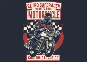 Retro Caferacer t shirt design to buy