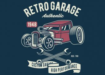 Retro Garage Hotrod t shirt design online