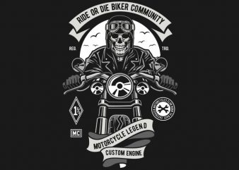 Ride Or Die Biker Club t shirt design online