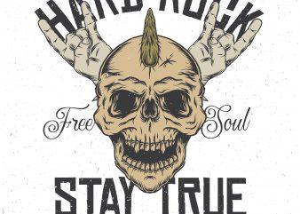 Stay true. Vector T-Shirt Design