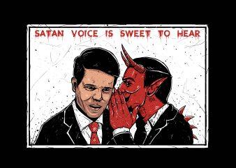 Satan Voice t shirt template vector