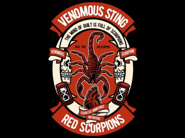 Scorpion t shirt template vector