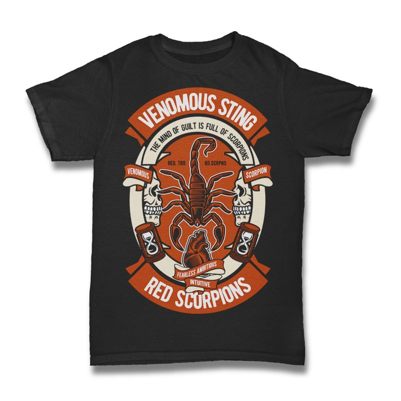 Scorpion vector t shirt design