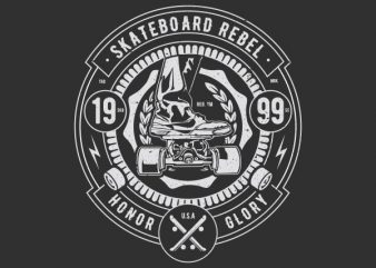 Skateboard Rebel Vector t-shirt design