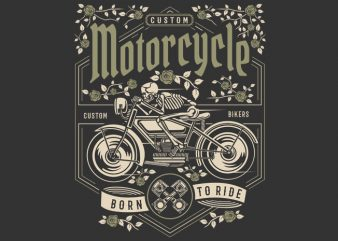 Skull Motorcycle vector t-shirt design