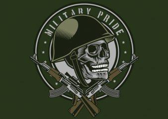 Skull Soldier t shirt design for sale