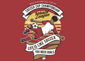 Soccer Cup Championship t shirt template vector