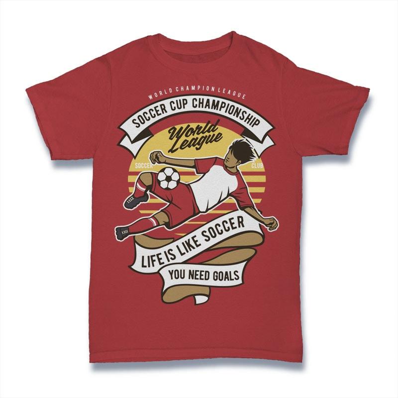 Soccer Cup Championship vector t shirt design