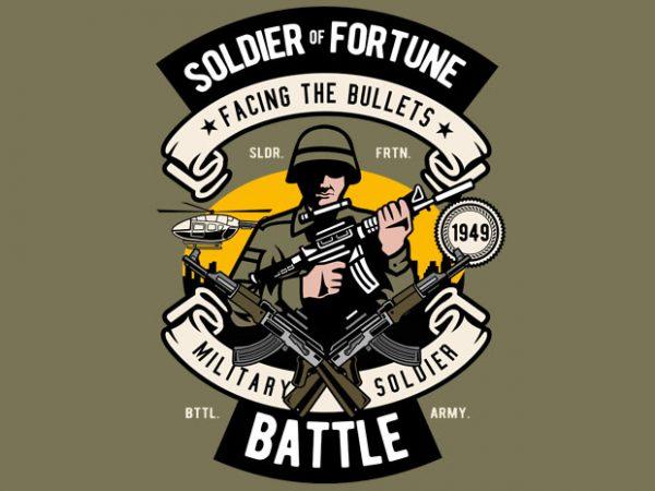 Soldier t shirt template vector