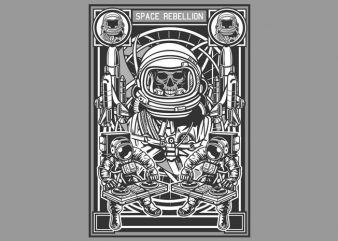 Space Rebellion commercial use t-shirt design