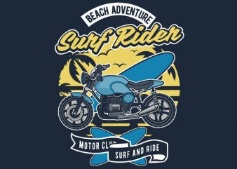 Surf Rider t shirt design for purchase