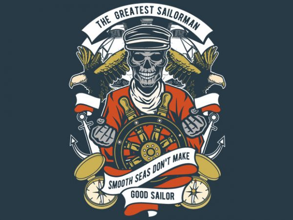The Greatest Sailorman vector t-shirt design for commercial use