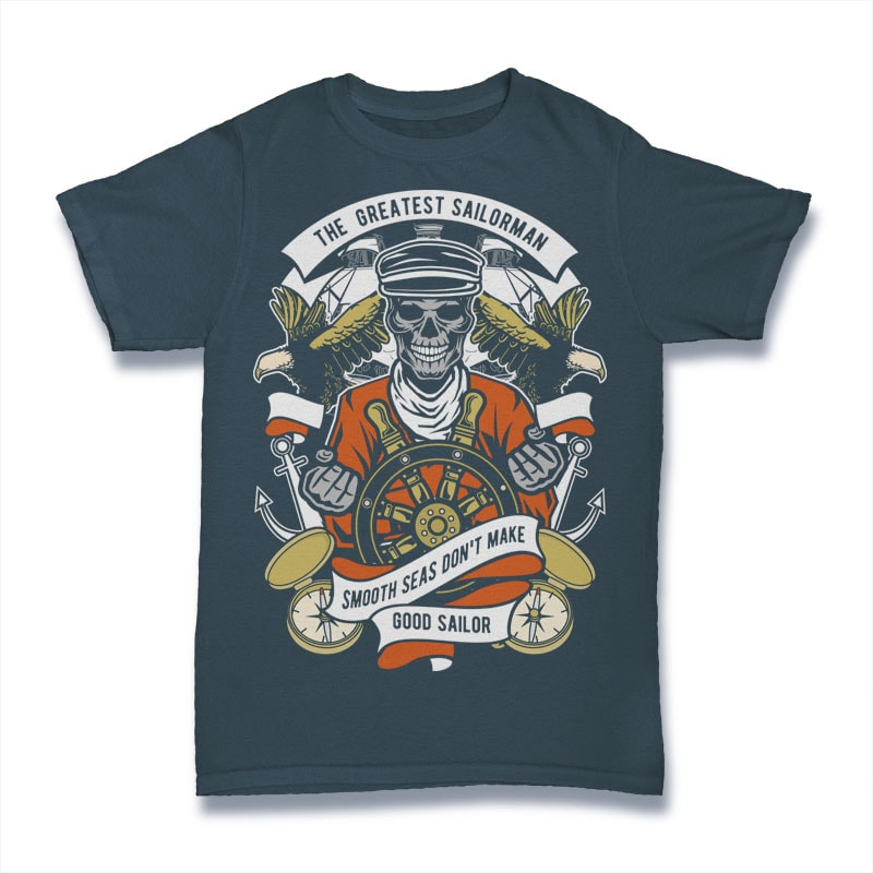The Greatest Sailorman t shirt designs for printify