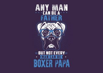 any man can be a father Vector t-shirt