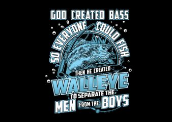 Born To Fish Walleye Vector t-shirt design