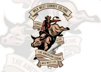 Cowboy Manu T-Shirt Design