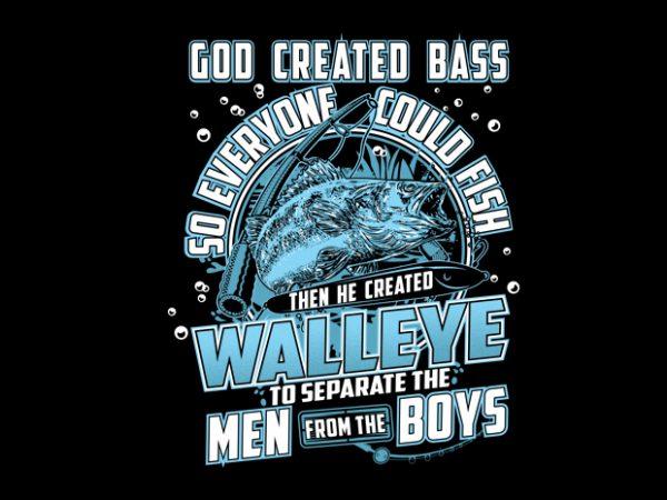 Born To Fish Walleye Vector t-shirt design