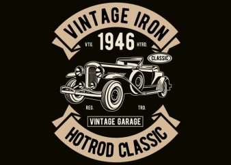 Vintage Iron Classic tshirt design vector