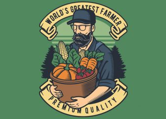 World Greatest Farmer print ready shirt design