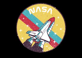 USA Space Agency Vintage t shirt vector graphic