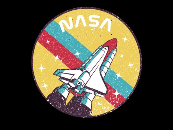 USA Space Agency Vintage t shirt design for purchase