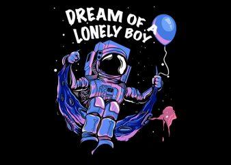 Lunar Astronaut T Shirt Design