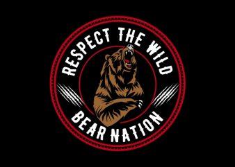 bear nation t shirt design for sale