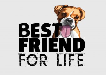 Best Friend Fo Life print ready vector t shirt design