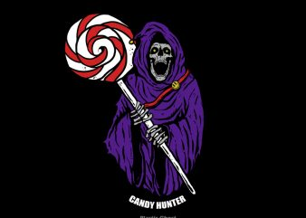 Candy Hunter t shirt vector file
